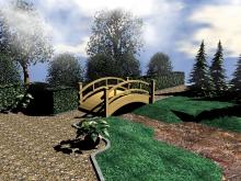 Obloukový most - zahrada