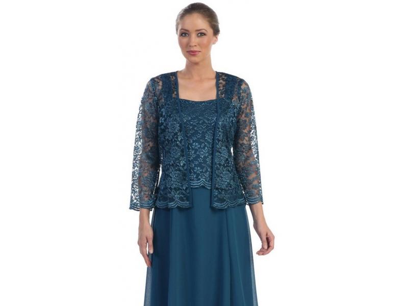 305db621ce6f Společenské šaty s krajkovým kabátkem - Glamor.cz - Společenské šaty ...